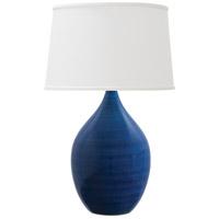 House of Troy GS302-BG Scatchard 21 inch 150 watt Blue Gloss Table Lamp Portable Light