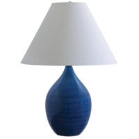 Scatchard 28 inch 250 watt Blue Gloss Table Lamp Portable Light