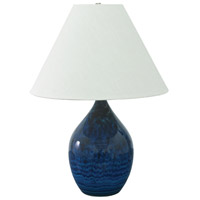House of Troy Scatchard 1 Light Table Lamp in Midnight Blue GS400-MID