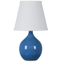 Scatchard 14 inch 150 watt Cornflower Blue Mini Accent Lamp Portable Light