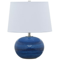House of Troy Scatchard 1 Light 17-in Table Lamp in Blue Gloss GS600-BG