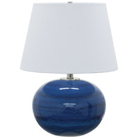 House of Troy Scatchard 1 Light 22-in Table Lamp in Blue Gloss GS700-BG