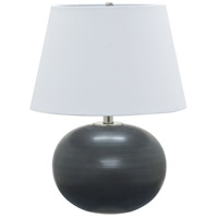 Scatchard 22 inch 100 watt Black Matte Table Lamp Portable Light
