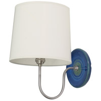 Scatchard 1 Light 9 inch Blue Gloss Wall Lamp Wall Light