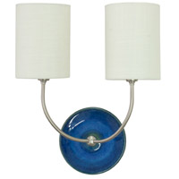 House of Troy Scatchard 2 Light Wall Lamp in Blue Gloss GS775-2-SNBG