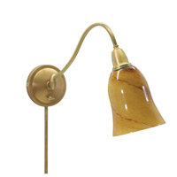 House of Troy Hyde Park 1 Light Swing-Arm Wall Lamp in Weathered Brass HP725-WB-AG