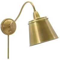 Hyde Park 14 inch 100 watt Weathered Brass Wall Swing Arm Wall Light