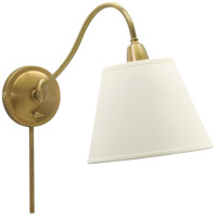 Hyde Park 14 inch 100 watt Weathered Brass Wall Swing Arm Wall Light in White