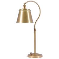 House of Troy Hyde Park 1 Light Table Lamp in Weathered Brass HP750-WB-MSWB