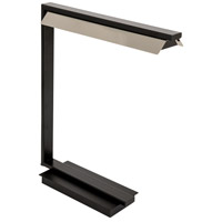 House of Troy JLED550-BLK Jay 19 inch 4.5 watt Black with Polished Nickel Table Lamp Portable Light