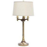 Lancaster 32 inch 150 watt Antique Brass Table Lamp Portable Light