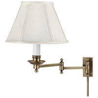 Library 12 inch 60 watt Antique Brass Wall Swing Arm Wall Light