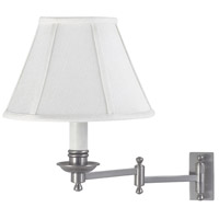 Library 12 inch 60 watt Satin Nickel Wall Swing Arm Wall Light