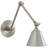 Library LED 5 inch Satin Nickel Wall Lamp Wall Light