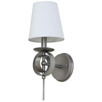 House of Troy Lake Shore 1 Light Wall Lamp in Satin Pewter LS202-SP