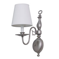 House of Troy Lake Shore 1 Light Wall Lamp in Satin Pewter LS203-SP photo thumbnail