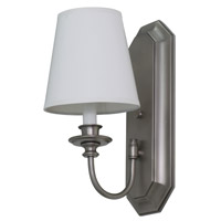 House of Troy Lake Shore 1 Light Wall Lamp in Satin Pewter LS208-SP photo thumbnail