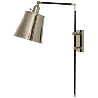 House of Troy M675-BLKPN Morgan 19 inch 75 watt Black with Polished Nickel Adjustable Wall Lamp Wall Light photo thumbnail