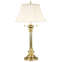 Newport 30 inch 60 watt Antique Brass Table Lamp Portable Light