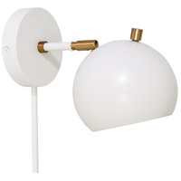 House of Troy OR775-WTWB Orwell LED 6 inch White with Weathered Brass Accents Wall Lamp Wall Light