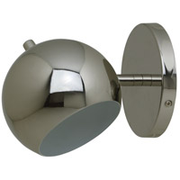 Orbit 1 Light 6 inch Polished Nickel Wall Lamp Wall Light