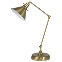 House of Troy OT650-AB-MS Otis 26 inch 60 watt Antique Brass Table Lamp Portable Light photo thumbnail