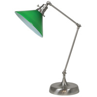 House of Troy OT650-SN-GR Otis 26 inch 60 watt Satin Nickel Table Lamp Portable Light photo thumbnail