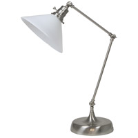 House of Troy OT650-SN-WT Otis 26 inch 60 watt Satin Nickel Table Lamp Portable Light photo thumbnail