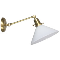 Otis 1 Light Antique Brass Wall Lamp Wall Light, Direct Wire Only