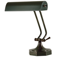 Piano and Desk 11 inch 60 watt Mahogany Bronze Piano Lamp Portable Light in 10.5, Octagon