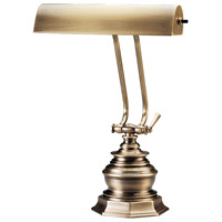 House of Troy P10-111-71 Piano and Desk 14 inch 60 watt Antique Brass Piano Lamp Portable Light in Octagon photo thumbnail