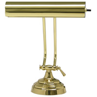 Piano and Desk 11 inch 60 watt Polished Brass Piano Lamp Portable Light in 10.5, Round