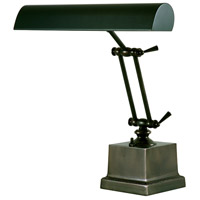Piano and Desk 13 inch 60 watt Mahogany Bronze Piano Lamp Portable Light in Square