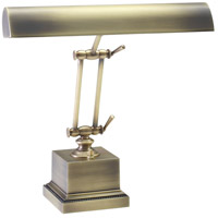 Piano and Desk 13 inch 60 watt Antique Brass Piano Lamp Portable Light in Square