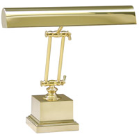 Piano and Desk 13 inch 60 watt Polished Brass Piano Lamp Portable Light in Square