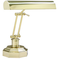 Piano and Desk 13 inch 60 watt Polished Brass Piano Lamp Portable Light in 12.5, Octagon