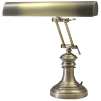 House of Troy P14-204-AB Piano and Desk 16 inch 60 watt Black and Brass Piano Lamp Portable Light in Round photo thumbnail