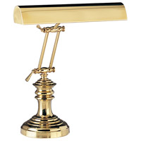 Piano and Desk 16 inch 60 watt Polished Brass Piano Lamp Portable Light in Round