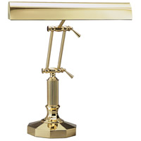 House of Troy P14-212 Piano and Desk 16 inch 60 watt Polished Brass Piano Lamp Portable Light in Octagon photo thumbnail