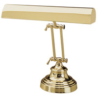 Piano and Desk 12 inch 60 watt Polished Brass Piano Lamp Portable Light in Round