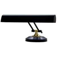 House of Troy Piano or Desk 2 Light Desk Lamp in Black and Brass P14-250-617