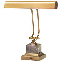 Piano and Desk 12 inch 60 watt Weathered Brass Piano Lamp Portable Light in Square