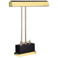 Piano and Desk 15 inch 60 watt Black & Brass Piano Lamp Portable Light in Black and Brass, Rectangle