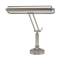 House of Troy Piano or Desk 2 Light Desk Lamp in Satin Nickel P15-80-52