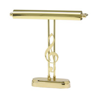 House of Troy Piano and Desk 2 Light Piano Lamp in Polished Brass P15-90-61