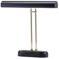 House of Troy Piano and Desk 2 Light Piano Lamp in Black & Brass P16-D02-617