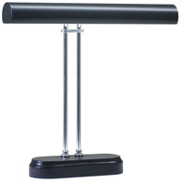 House of Troy Piano or Desk 2 Light Desk Lamp in Black and Chrome P16-D02-627