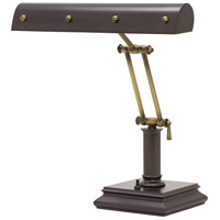 House of Troy PB14-201-MB/AB Signature 14 inch 60 watt Mahogany Bronze w/Antique Brass Accents Desk Piano Lamp Portable Light in Mahogany Bronze with Antique Brass Accents photo thumbnail