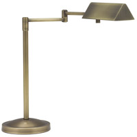 Pinnacle 16 inch 50 watt Antique Brass Table Lamp Portable Light