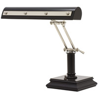House of Troy PR14-201-BLK/PN Signature 14 inch 60 watt Black w/Polished Nickel Accents Desk Piano Lamp Portable Light in Black and Polished Nickel photo thumbnail